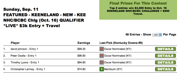 KEE results 0911