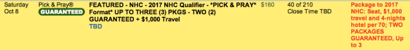 NHC Sat 2x qualifier 1008